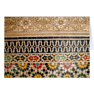 Arabic Texture Tiles Card