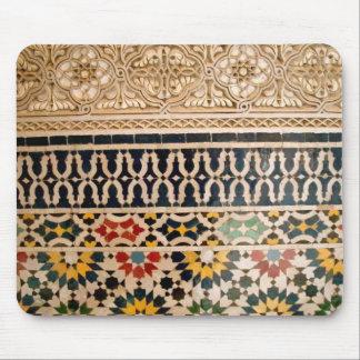 Arabic Texture Tiles Mouse Pad