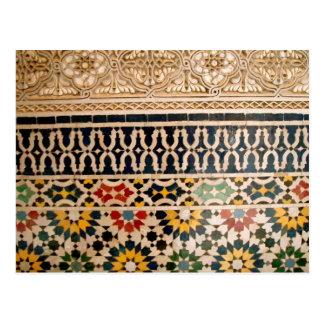 Arabic Texture Tiles Postcard