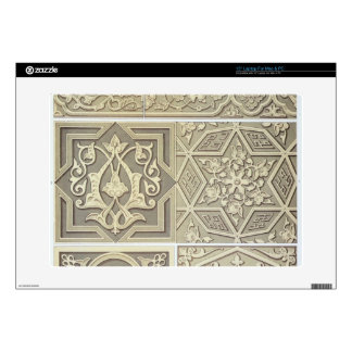 "Arabic tile designs (colour litho) 15"" laptop skin"