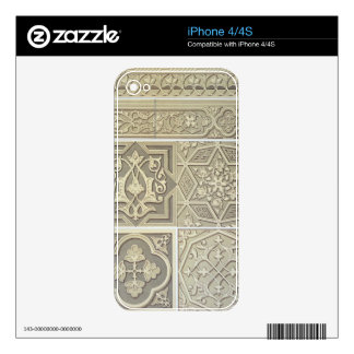 Arabic tile designs (colour litho) decals for iPhone 4