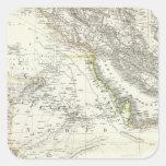 Arabien - península árabe pegatina cuadrada
