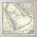 Arabien - península árabe póster