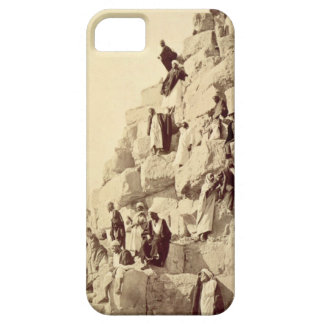 Arabs assisting tourists to climb the pyramids at iPhone SE/5/5s case