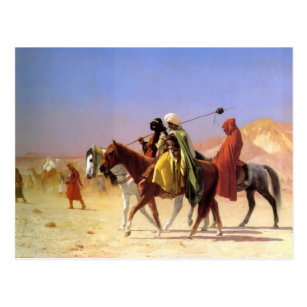 Arabs Crossing the Desert by Gerome Postcard