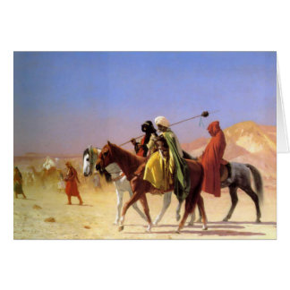 """Arabs Crossing The Desert"", by Jean Leon Gerome Card"