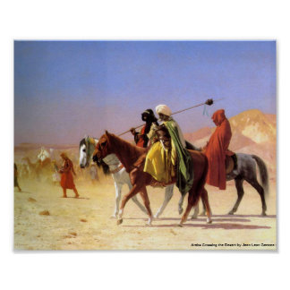 Arabs Crossing the Desert by Jean-Leon Gerome Poster