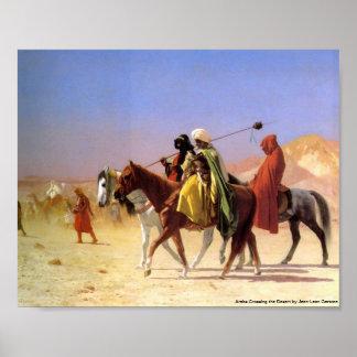 Arabs Crossing the Desert by Jean-Leon Gerome Poster