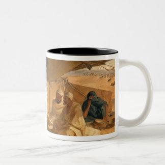 Arabs in the Desert, 1871 Two-Tone Coffee Mug