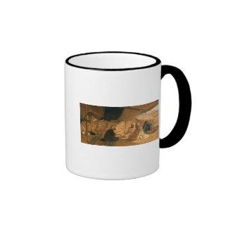 Arabs in the Desert, 1871 Ringer Coffee Mug