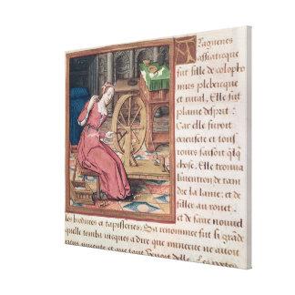 Arachne, from 'Vie des Femmes Celebres' Canvas Print