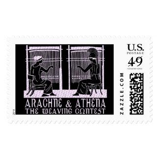 Arachne vs. Athena Postage Stamp