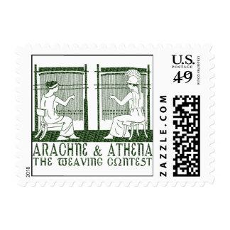 Arachne vs. Athena Stamp