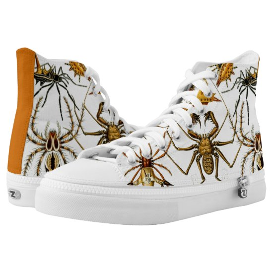 Arachnids by Ernst Haeckel, Vintage Spiders High-Top Sneakers