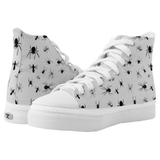 Arachnophile Spiders on Grey Sneakers