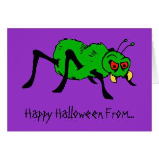 Arachnophilia Nightmare Funny Halloween Card
