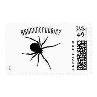 Arachnophobic Postage Stamp