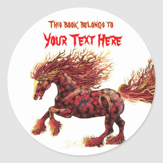 aracnaphobia 3, This book belongs to, Your Text... Classic Round Sticker