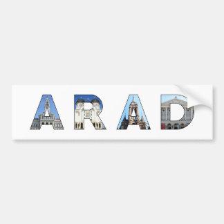 arad city romania landmark inside name symbol text bumper sticker