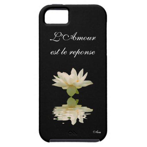 Aradesignerlotus de la respuesta del la de L'Amour iPhone 5 Coberturas