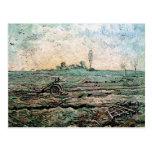 Arado y la grada (mijo), Vincent van Gogh Tarjetas Postales