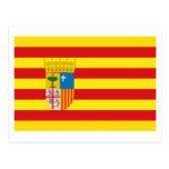 Aragón flag postcard