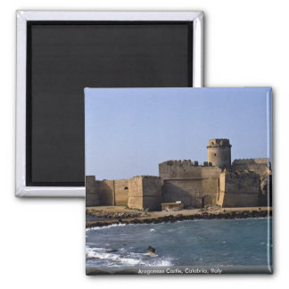 Aragonese Castle, Calabria, Italy 2 Inch Square Magnet