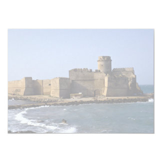 "Aragonese Castle, Calabria, Italy 5"" X 7"" Invitation Card"