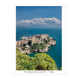 Aragonese Castle - Italy Postcard