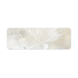 Aragonite and Quartz Label