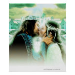 Aragorn and Arwen Kiss Poster