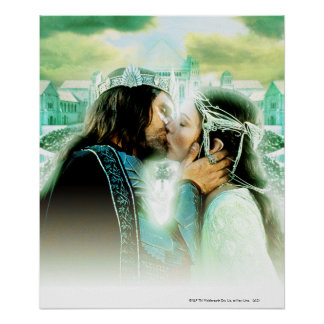 Aragorn and ARWEN™ Kiss Poster