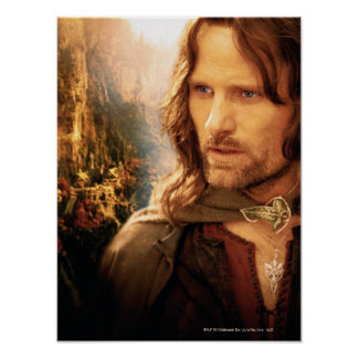 Aragorn and Rivendell Composition Poster