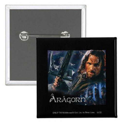 Aragorn con el ejército pin cuadrado