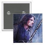 Aragorn con sangre pin cuadrado