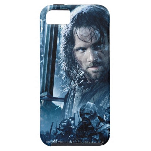 Aragorn contra Orcs iPhone 5 Fundas