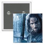 Aragorn contra Orcs Pin Cuadrado