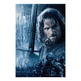 Aragorn contra Orcs Póster