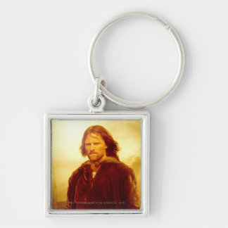Aragorn Glowing Silver-Colored Square Keychain