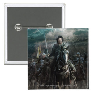 Aragorn Leading on Horse Button