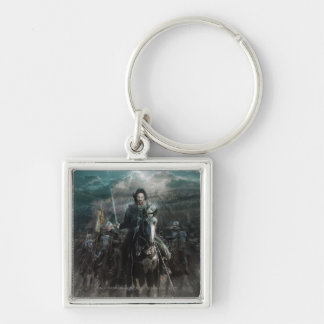 Aragorn Leading on Horse Silver-Colored Square Keychain