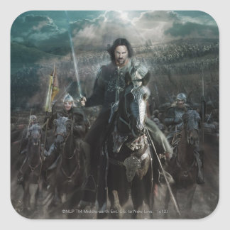 Aragorn Leading on Horse Square Sticker