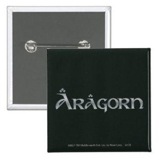 Aragorn logo pinback button