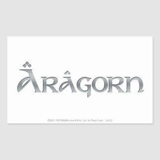 Aragorn logo rectangular sticker
