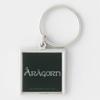 Aragorn logo Silver-Colored square keychain