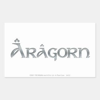 Aragorn logo rectangle stickers