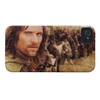 Aragorn más la línea de caballos iPhone 4 Case-Mate protectores