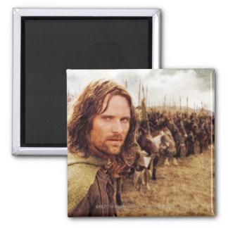 Aragorn más la línea de caballos imán cuadrado