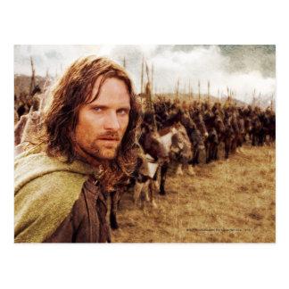 Aragorn Plus Line of Horses Postcard
