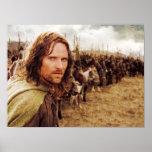 Aragorn Plus Line of Horses Poster